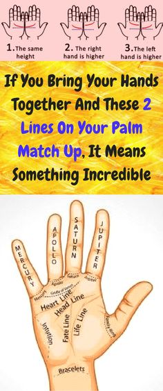 There is a lot that can be said about the lines on your hands but did you know what it means when the two lines provided in the picture line up together perfectly? Palmistry has been a very big piece of ancient Chinese history where you are able to see your destiny unfold before your …