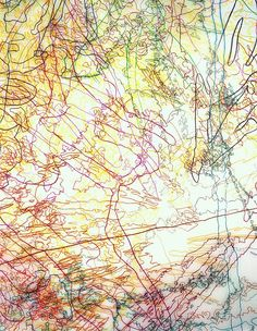 INGRID CALAME  #181 Working Drawing [detail], 2005  color pencil on trace mylar  136 X 88 inches