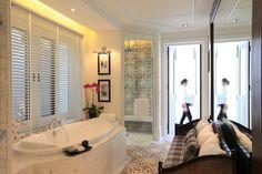 The Louis Leonowens Pool Suite bathroom at 137 Pillars House, Chiang Mai, Thailand