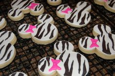 Image detail for -... zebra print minnie mouse cookies for a little girl s birthday party
