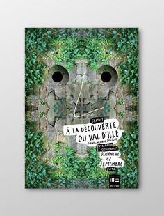 à la découverte du val d'ille 2016. Design graphique  © stéphanie triballier - www.lejardingraphique.com Saint Médard, Design Graphique, Flyers, Posters, Graphic Design, 3d, Ideas, Booklet, Ruffles