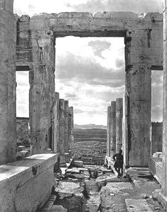 "The J Paul Jetty Museum in Los Angles.""The Propylaia to the Acropolis, Athens"" by Braun, Clément & Cie (French, 1889 - 1910) The city of Athens, Greece"