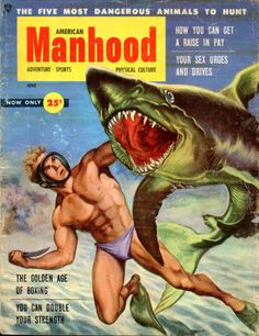 """American Manhood"" Vintage Pulp Men's Adventure Magazine"