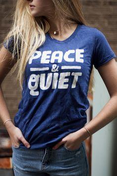 PEACE & QUIET Ladies Tee - Kin Ship Goods
