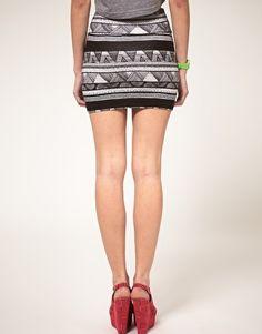 American Apparel print skirt