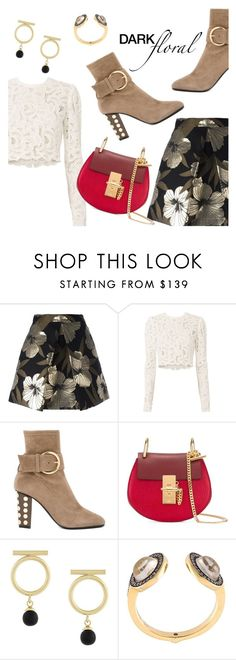 """""""In Bloom: Dark Florals"""" by dressedbyrose ❤ liked on Polyvore featuring P.A.R.O.S.H., A.L.C., Giuseppe Zanotti, Chloé, Isabel Marant, Noor Fares, polyvoreeditorial and darkflorals"""
