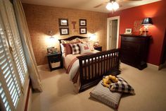Love the warmth of this boy room