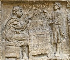 relief depicting a man paying his taxes, modern replica of a Roman relief found in Metz, France, early third century CE The tax collector is using an abacus to calculate amounts. Rome (EUR), Museum of Roman Civilization. Credits: Barbara McManus, 2012