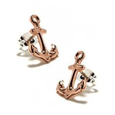 Rose Anchor Studs <3