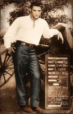 Elvis - wardrobe test - Love Me Tender, 1956