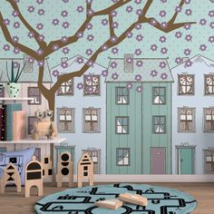 Casas (Arquivo para Papel de Parede) - Cecília Murgel Drawings