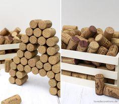 DIY 3D Buchstaben aus Korken 10