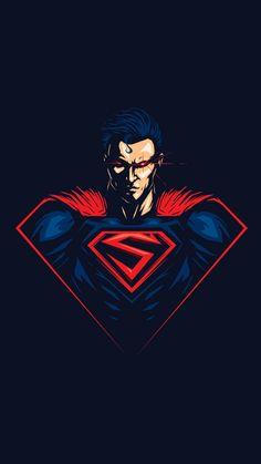 Superman by Steven Toang Batman Wallpaper, Cartoon Wallpaper, Marvel Dc Comics, Marvel Heroes, Artwork Superman, Cool Cartoon Drawings, Iron Man Art, Captain America Wallpaper, Cool Cartoons