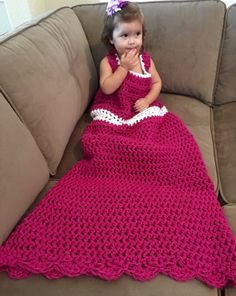 Princess Dress Blanket  - dress up - play clothes - unique gift - crochet - knit - Christmas - birthday - halloween