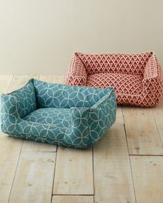 dog beds with chic patterns #dog #decor