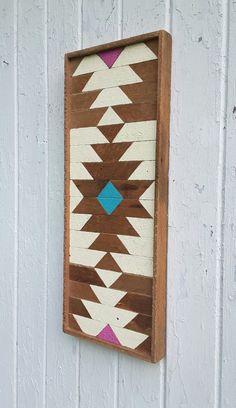 Arte de pared de madera madera de la pared decoración listón