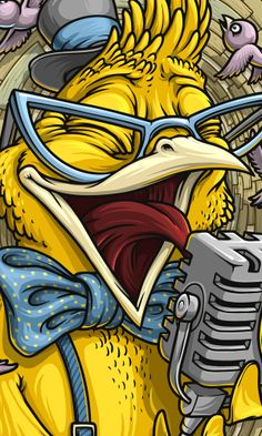 Birds Band by Oleg Gert, via Behance