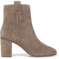 Zimmermann Suede ankle boots (2 035 SEK) ❤ liked on Polyvore featuring shoes, boots, ankle booties, mushroom, high heel boots, suede ankle boots, short high heel boots, suede booties and suede ankle bootie