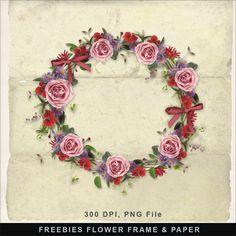 Far Far Hill--FREEBIES- FLOWER FRAME & PAPER