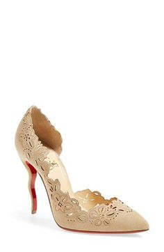 Christian Louboutin 'Beloved' Laser Cut Half d'Orsay Pump available at #Nordstrom