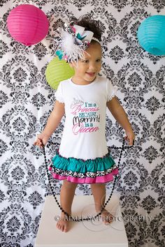 Girls I'm a Princess becasue Mommy's a Queen by BIndulgedBoutique, $40.00