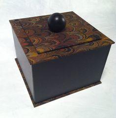 Decorative  Hand Marbled-bonded leather Handmade Box