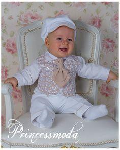 Nr.2 Eleganter Taufanzug aus Cord inkl. Mantel - Princessmoda - Alles für Taufe Kommunion und festliche Anlässe
