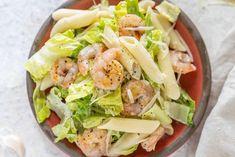 Pasta Salad Ingredients, Pasta Salad Recipes, Shrimp Recipes, Main Dish Salads, Main Dishes, Kitchen Recipes, Cooking Recipes, Homemade Caesar Salad Dressing, Classic Caesar Salad