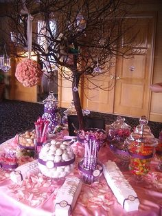 How to set up a candy buffet at your wedding @ Wedding-Day-Bliss