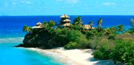 Necker Island. Richard Branson's private island, though you can pay for a stay there. It's good to be Richard Branson!