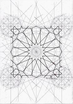 Motifs Islamiques, Islamic Motifs, Islamic Art Pattern, Arabic Pattern, Pattern Art, Sacred Geometry Patterns, Geometry Art, Geometric Drawing, Geometric Shapes