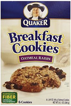 Quaker Chewy Breakfast Cookies Oatmeal Raisin 6 Count >>> Check out this great product. (Note:Amazon affiliate link)