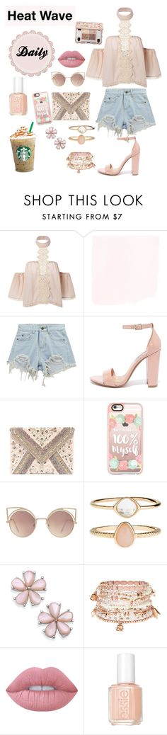 """Heat Wave"" by nury-sg ❤ liked on Polyvore featuring Chicnova Fashion, Steve Madden, LULUS, Casetify, MANGO, Accessorize, Lime Crime and Essie"