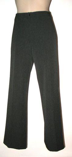 FABRIZIO GIANNI Straight Leg Stretch Comfort Pants 6/8 Charcoal Gray #FABRIZIOGIANNI #StraightLegPants
