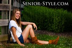 Females poses for senior