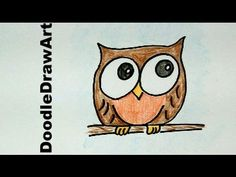 How To Draw A Baby Owl Cartoon - Easy Drawing Lesson for Kids!