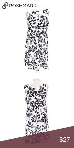 Amanda Lane Patterned Dress Brand: Amanda Lane. Size: 12. Material: cotton, polyester. Season: spring-summer, fall-winter. Colors: black, white. Price is firm. Amanda Lane Dresses