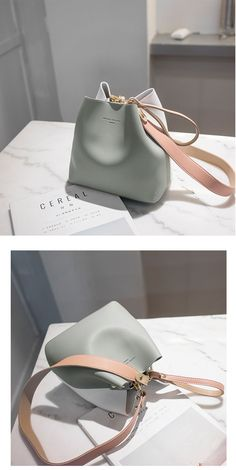 Leather Bucket Shoulder Handbags – Purses And Handbags Boho Luxury Purses, Luxury Bags, Luxury Handbags, Fashion Handbags, Tote Handbags, Purses And Handbags, Fashion Bags, Tote Bags, Cheap Handbags