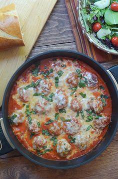 Turkey Parmesan Meatballs in a Tomato Cream Sauce #italianfood #comfortfood