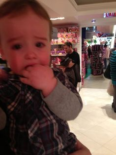 Reasons My Son Is Crying: He's in the largest toy store on the planet.