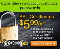 Save Now! Go Daddy Standard SSL Certificates for only $5.99! - 300x250