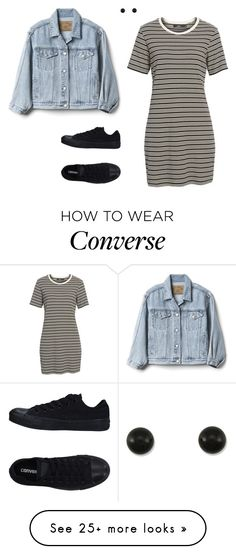 """Sans titre #1441"" by stalialightwood on Polyvore featuring OBEY Clothing, Gap and Converse"