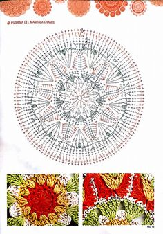 Stuff from Left-handedn - Her Crochet Crochet Bedspread Pattern, Crochet Doily Diagram, Crochet Mandala Pattern, Crochet Circles, Crochet Stitches Patterns, Crochet Chart, Stitch Patterns, Crochet Dollies, Crochet Cozy