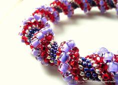 Cellini Spiral Bracelet Purple by Stellaltinaan on Etsy