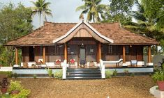 India's top 5 homestay – Nelpura Alappuzha in Kerala, Spiti Homestay in Himachal Pradesh, Sirohi House Old Delhi, Mr. Vikram and Paaro Ranawat's Homestay in Jaipur, Capella in Northern Goa. Indian Home Design, Kerala House Design, Kerala Traditional House, Traditional House Plans, Village House Design, Village Houses, Cochin, Kerala Architecture, Interior Architecture