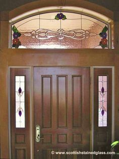Scottish Stained Glass specializes in custom residential stained glass designed for entryways in homes across the nation. Improve privacy, curb appeal, and property value with custom stained glass. Custom Stained Glass, Stained Glass Windows, Arched Windows, Glass Design, Drapery, Decoration, Curb Appeal, My House, Entryway