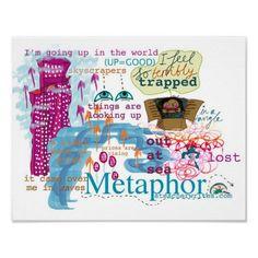 Metaphor Poster for KS2 and KS3