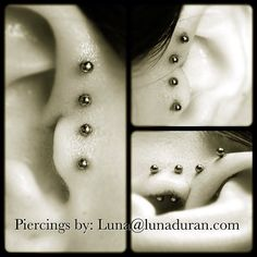 lunaduran:  An ear project from several months ago. I haven't been posting any of my piercing photos lately; I figured I should work on that...