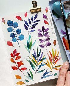 Watercolor Painting Techniques, Watercolour Tutorials, Watercolor And Ink, Watercolor Paintings, Watercolour Drawings, Watercolours, Painting Art, Painting Inspiration, Art Inspo