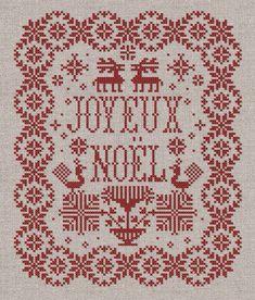 Joyeux Noël  Christmas Sampler  Instant Download PDF by modernfolk